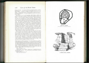 Pages from The Lives of the British Saints.