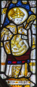Sant Asa, St Asaph, medieval stained glass