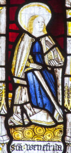 Santes Gwenfrewy, medieval stained glass