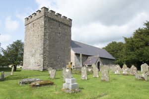 Exterior view of the Church of St Cynog, Merthyr Cynog