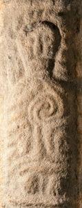 Stone figure from the Llanbadarn Fawr cross.