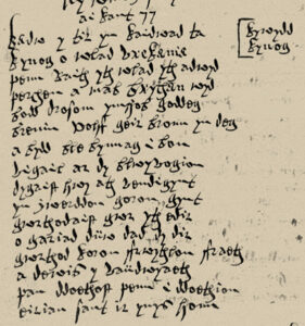 A fifteenth-century poem to St Cynog in the hand of Llywelyn Siôn