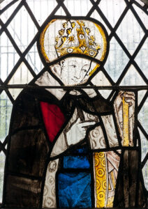 Medieval stained Glass depicting a bishop