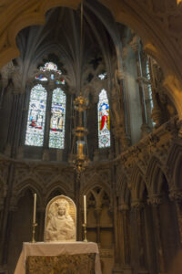 Interior of St WInifrede's Chapel, Shrewsbury Cathedral.